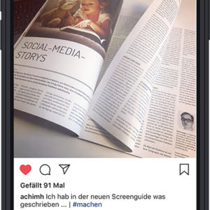 "Achim Hepp | PRINT | Screenguide ""Social Media Storys"""