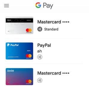 PayPal und Revolut in der Google Pay App