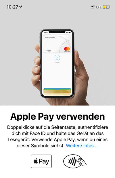Apple Pay verwenden