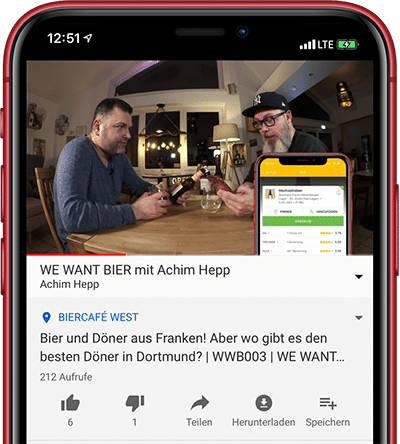 Untapped bei WE WANT BIER auf YouTube
