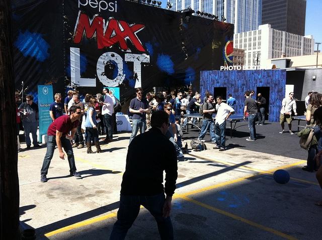 Das Foursquare Lot auf der SXSW 2011