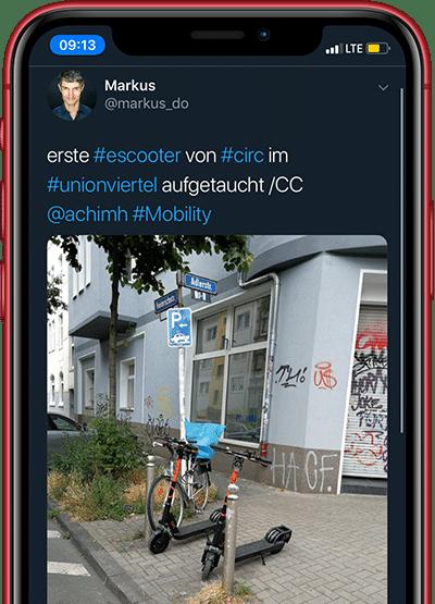 E-Scooter von Circ auf Twitter