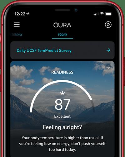 Die App des Oura hilft bei der Früherkennung von Corona