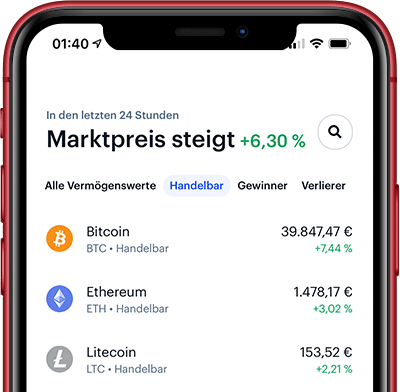 Coinbase App auf dem iPhone 11