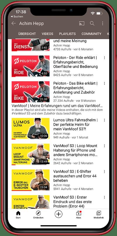 Achim Hepp auf YouTube